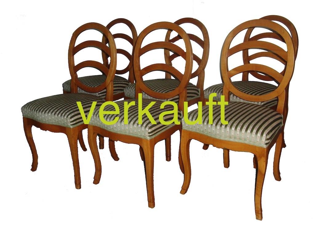 6 Bdm.Stühle oval Kb verkauft
