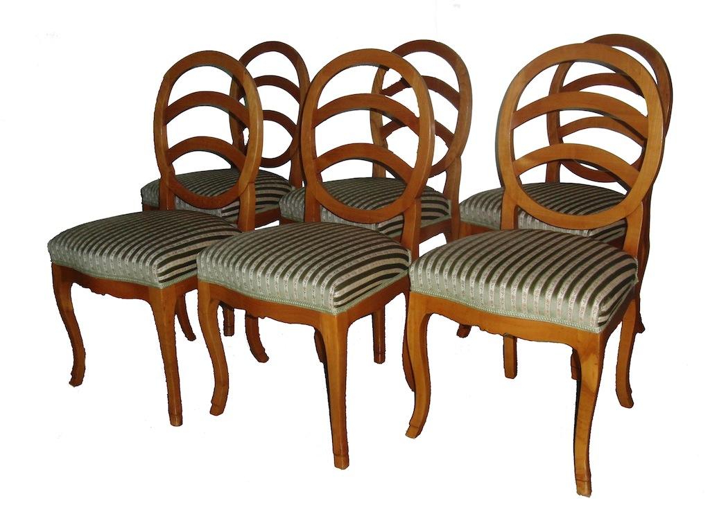 6 Bdm.Stühle oval Kb