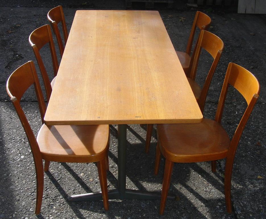 60-er Jahre Stühle m. Tisch