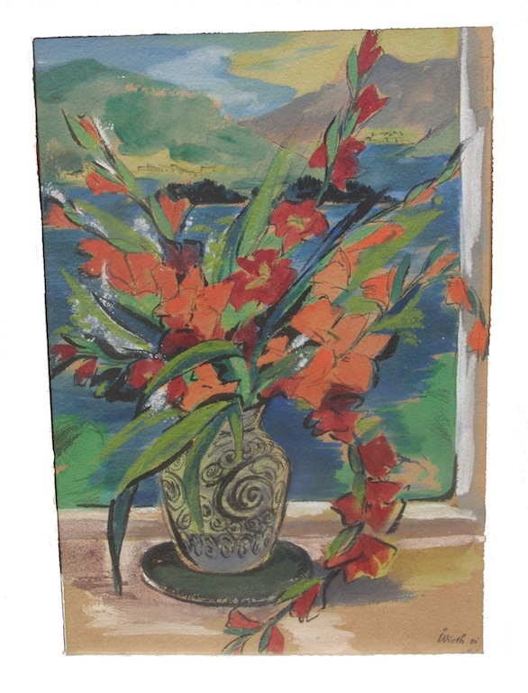 Aquarell Wieth Vase