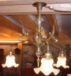 Lampe Jugendstil 3-armig