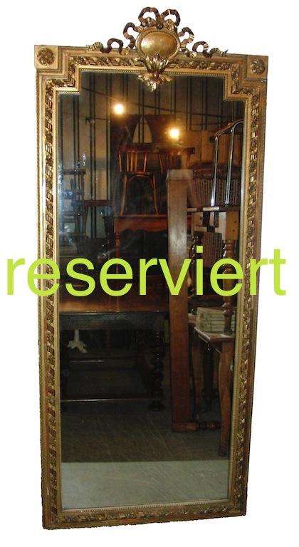 grandioser sehr grosser louis xvi spiegel edeltr del antike m bel. Black Bedroom Furniture Sets. Home Design Ideas
