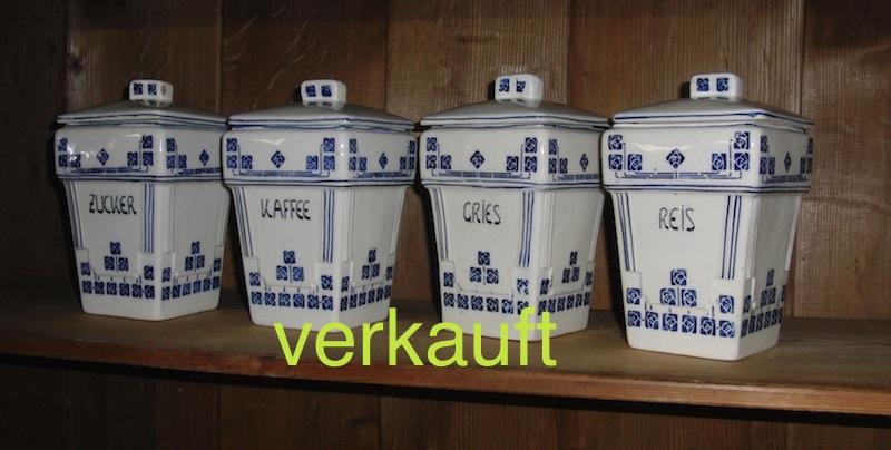 Verkauft 4 Gewürzdosen blau