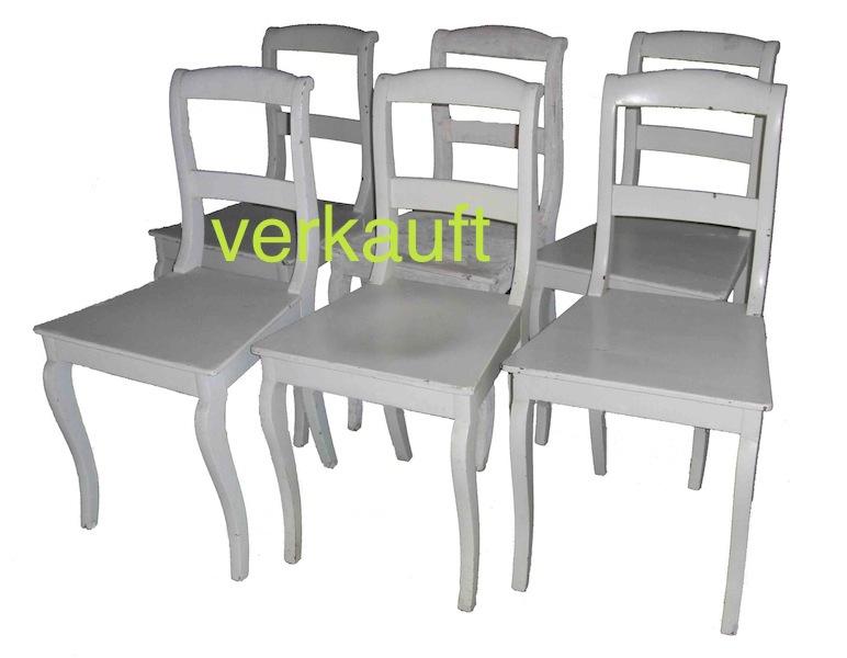 Verkauft 6 Stühle Bdm weiss