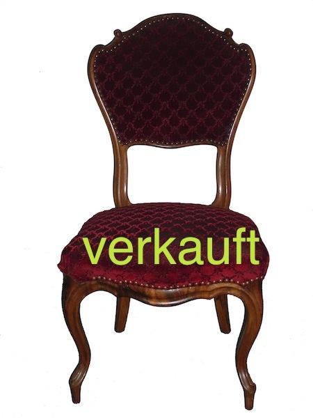 Verkauft 6 Stühle L.Phil rot