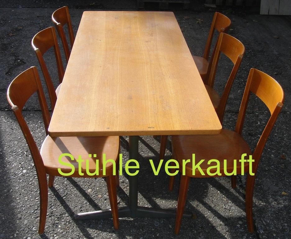 Verkauft 60-er Jahre Stühle m. Tisch