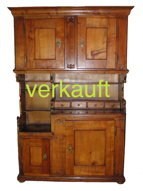 verkauft schmales buffet kirsche kt zh edeltr del antike m bel. Black Bedroom Furniture Sets. Home Design Ideas