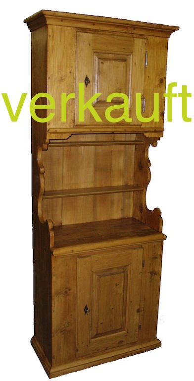 verkauft schmales b ndner buffet edeltr del antike m bel. Black Bedroom Furniture Sets. Home Design Ideas