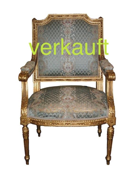 Verkauft Fauteuil gold