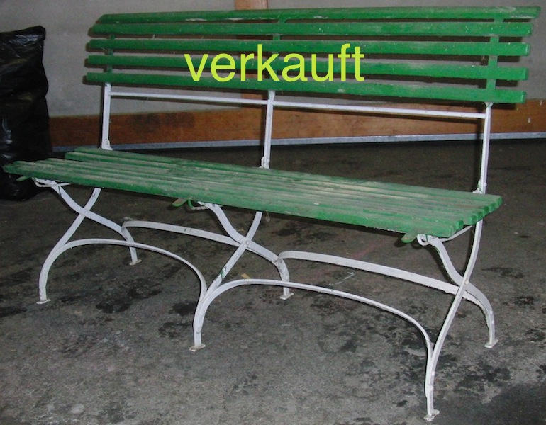 Verkauft Gartenbank klein grüne