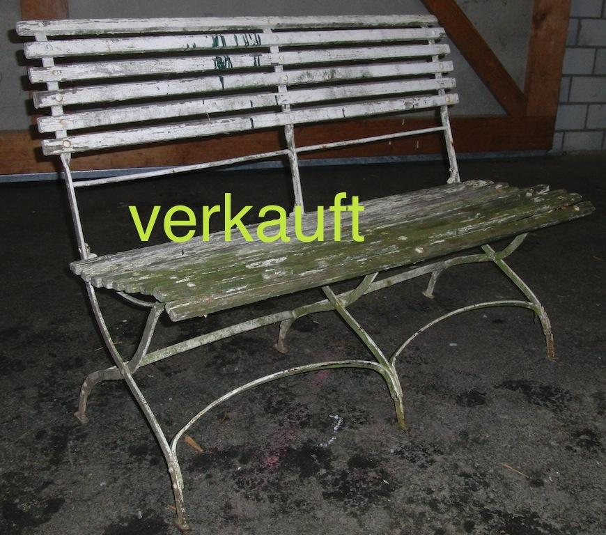 Verkauft Antike Kleine Gartenbank Klappbar Edeltrödel
