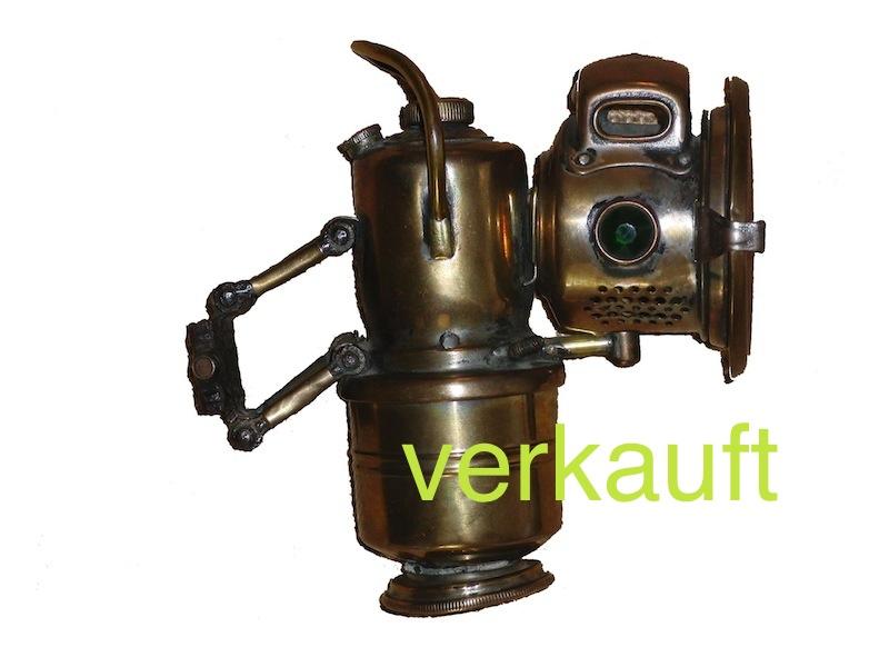 Verkauft Karbidlampe