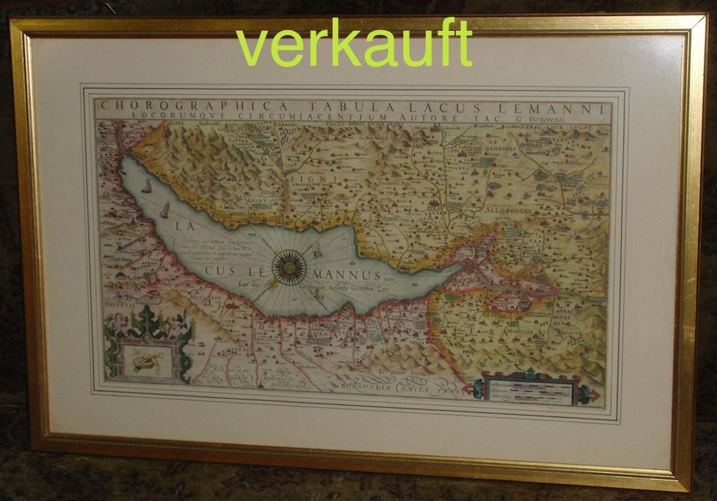 Verkauft Karte Genfersee