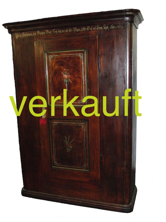 bauernschr nke original bemalt archives edeltr del antike m bel. Black Bedroom Furniture Sets. Home Design Ideas