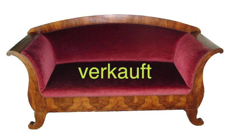 Verkauft Sofa Bdm. weinrot