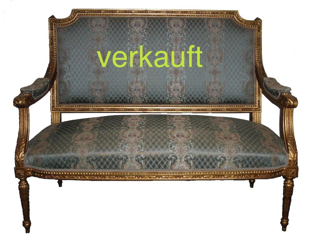Verkauft Sofa gold