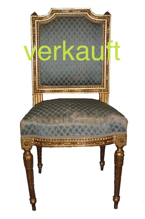 Verkauft Stuhl gold