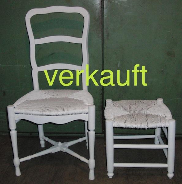Verkauft Tessinerstuhl und Hocker