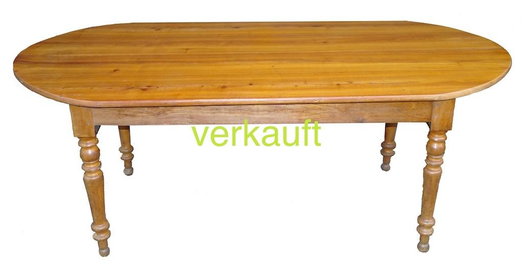 verkauft grosser eleganter tisch kirschbaum l ngsoval edeltr del antike m bel. Black Bedroom Furniture Sets. Home Design Ideas