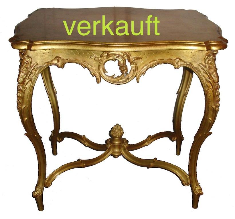 Verkauft goldener Tisch Historismus