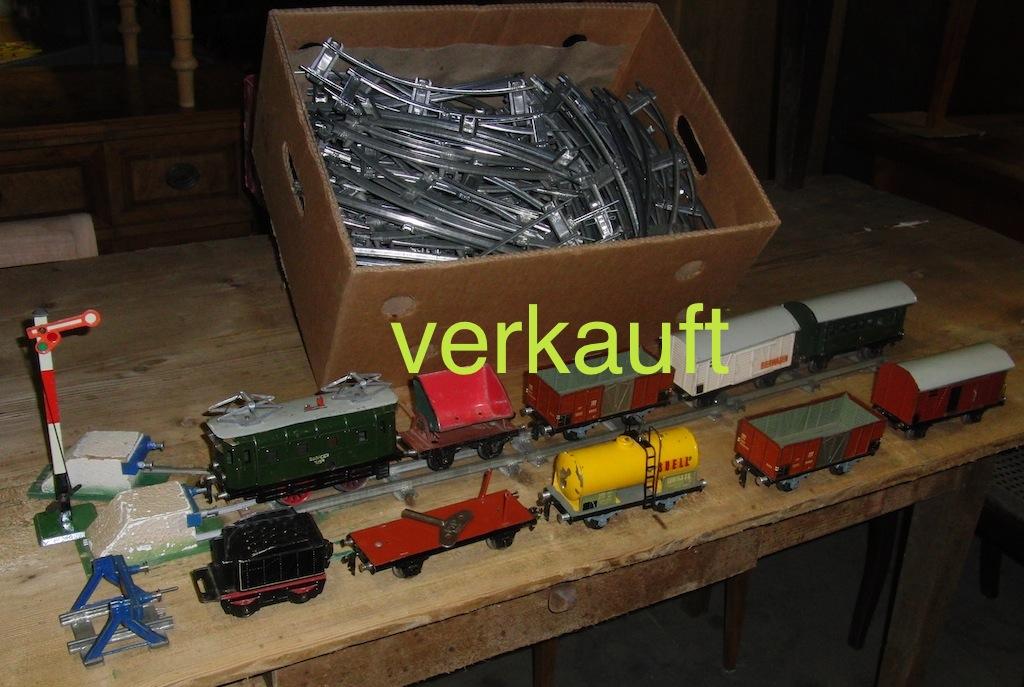 Verkauft Blecheisenbahn Mai13A
