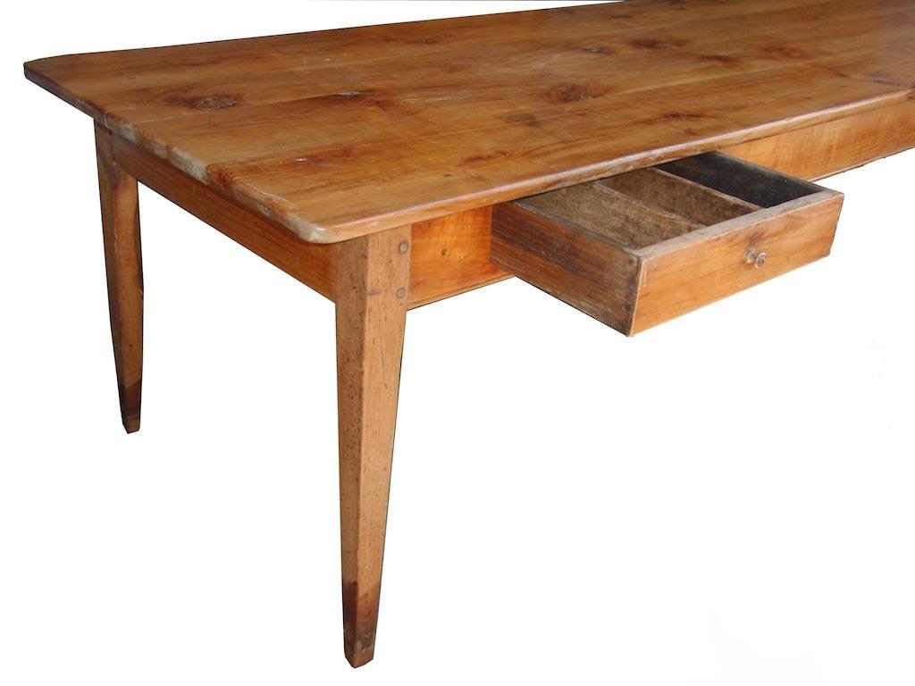 verkauft: extrem selten: 280 cm langer tisch, biedermeier, kirschbaum