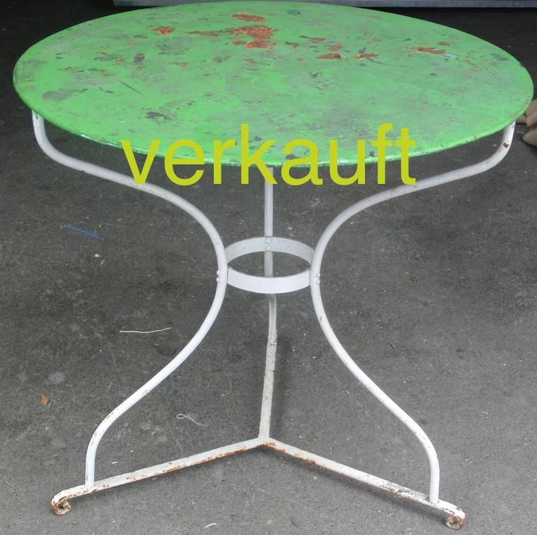 Verkauft Runder Antiker Gartentisch Aus Restaurant Edeltrodel
