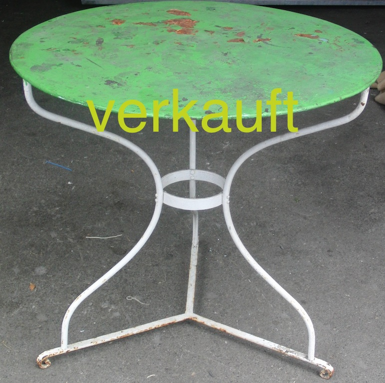 Gartentisch grün 8.13A verkauft