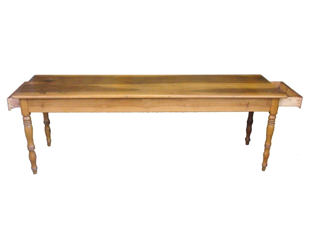 verkauft eleganter schmaler und sehr langer tisch nussbaum edeltr del antike m bel. Black Bedroom Furniture Sets. Home Design Ideas