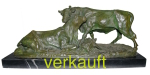 Verkauft Skulptur Kühe Sept13A