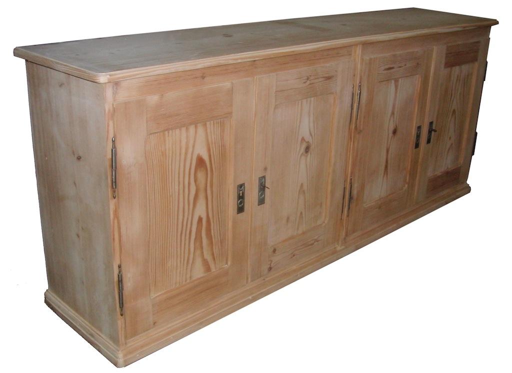 verkauft lange anrichte sideboard mit 4 t ren. Black Bedroom Furniture Sets. Home Design Ideas