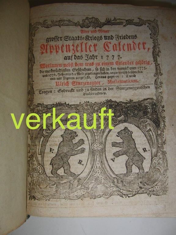 Verkauft Appenzeller Kalenderbuch Dec13A