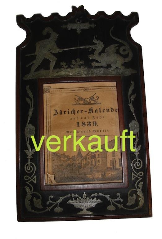 Verkauft Appenzeller Kalenderrahmen1887Dez13A