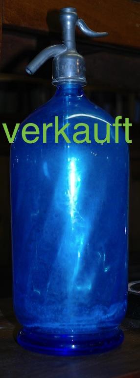 Verkauft Siphonflasche dunkelblau Juni14A