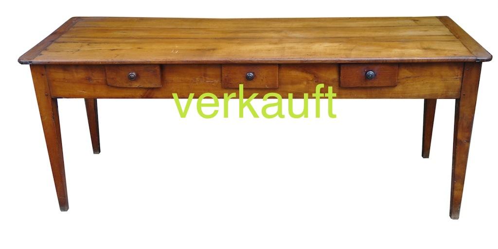 Verkauft Tisch 38 mit 7 Schubladen Mai14A