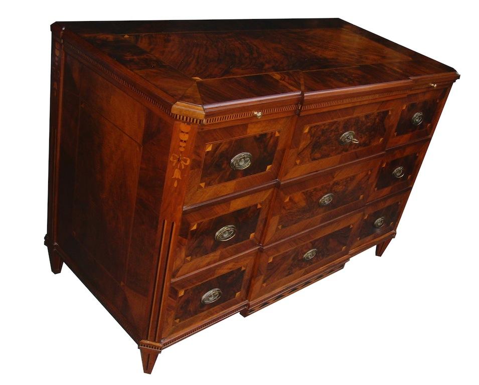 verkauft hochherrschaftliche kommode louis xvi von erster qualit t edeltr del antike m bel. Black Bedroom Furniture Sets. Home Design Ideas