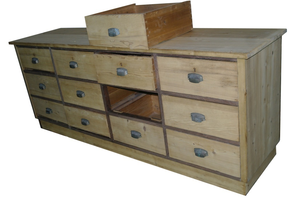 verkauft apothekertheke sideboard schubladenstock. Black Bedroom Furniture Sets. Home Design Ideas