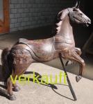 Verkauft Karussellpferd braun Sept14A