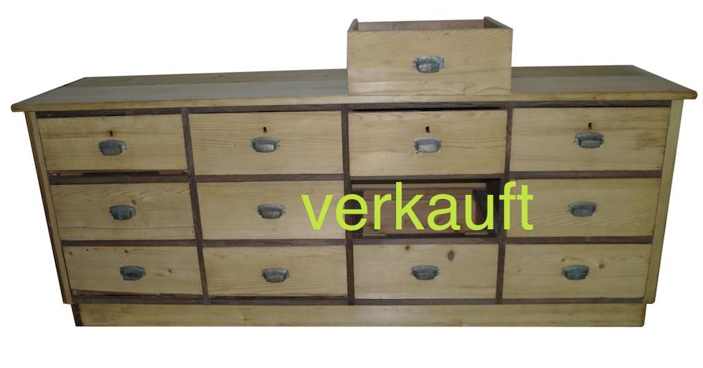 Verkauft Schubladenstock 12 Sch Sept14A