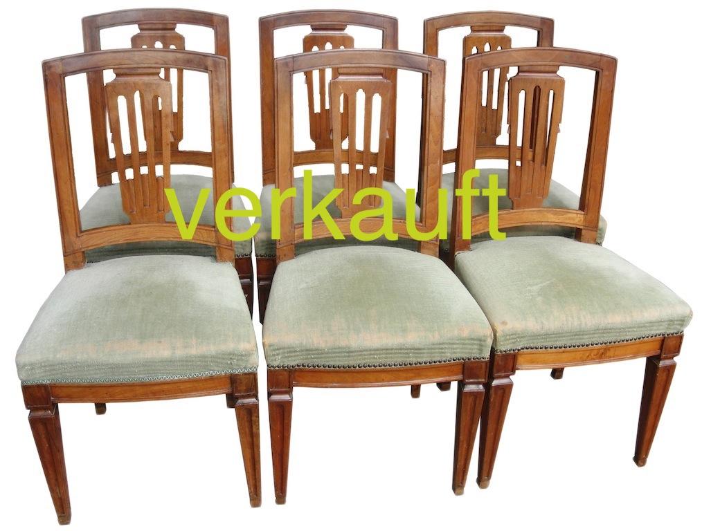 6 Stühle Nb LXVI Okt14A verkauft
