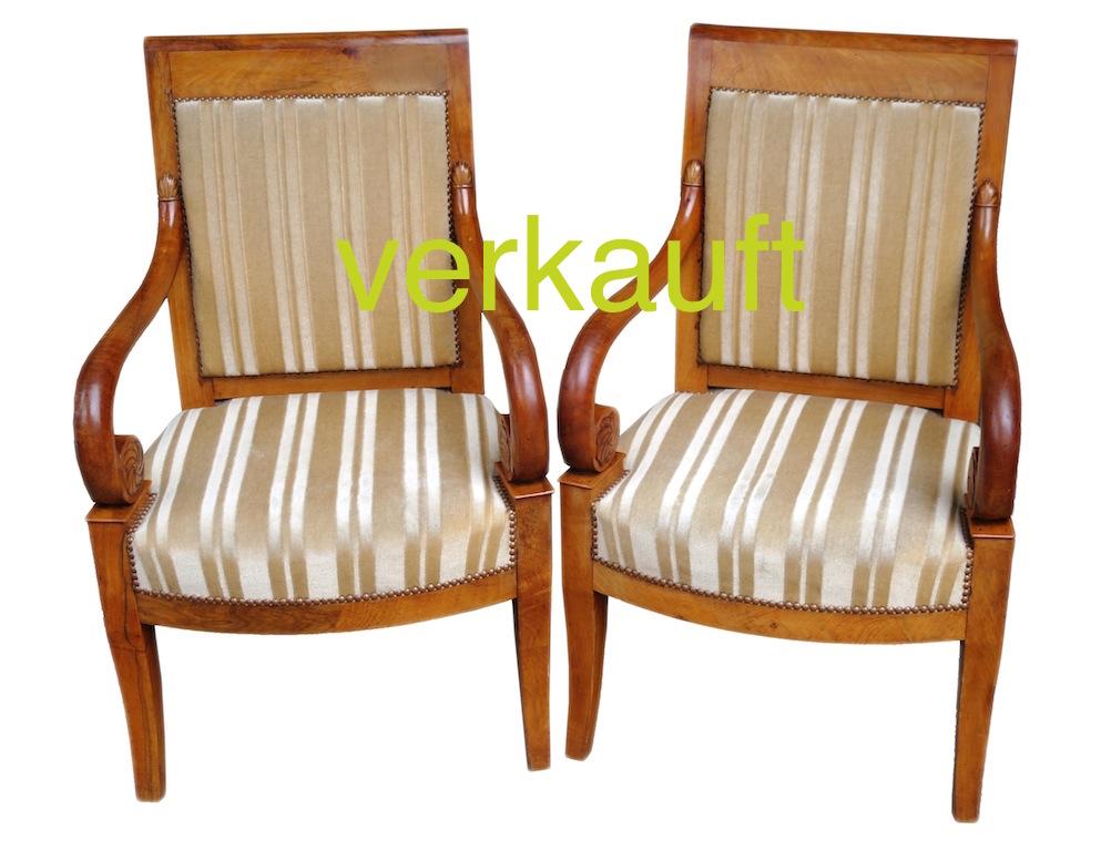 Verkauft 2 Fauteuils Bdm gepolstertOkt14A