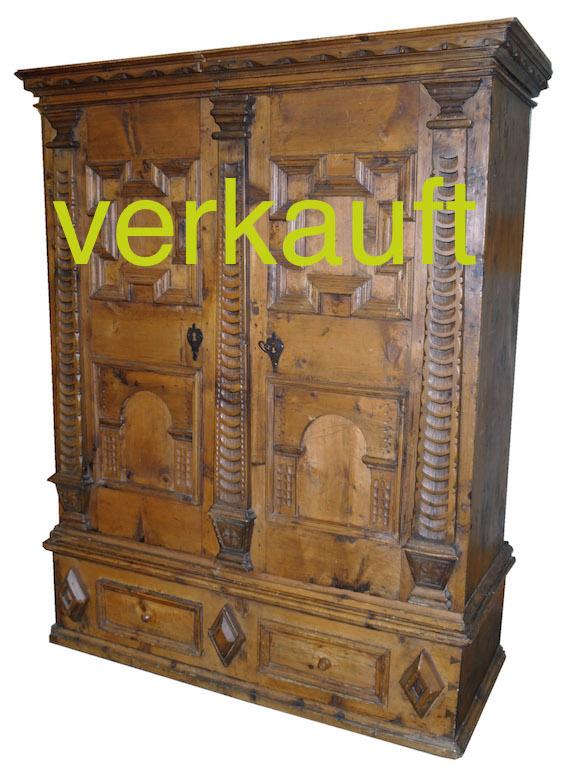 Engadiner Schrank Renaiss. Feb15A verkauft