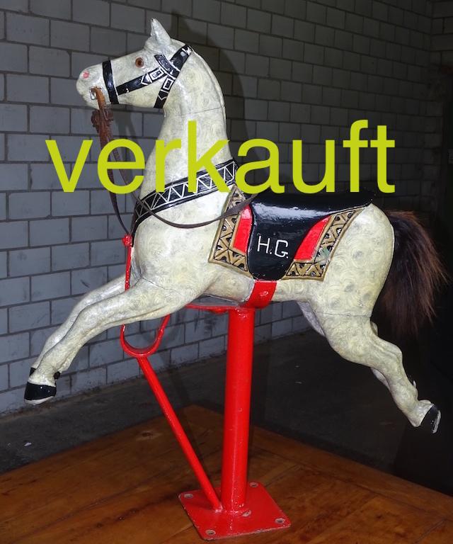 Karusselpferd weiss Feb15A verkauft