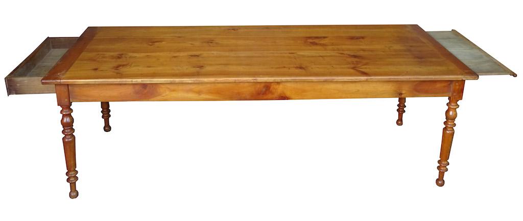 sehr grosser tisch 49 f r 10 personen kirschbaum edeltr del antike m bel. Black Bedroom Furniture Sets. Home Design Ideas
