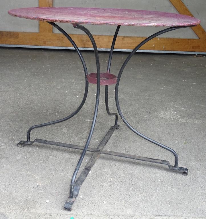 Runder Gartentisch Metall Free Runder Gartentisch Metall Hellgrau