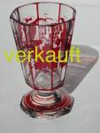 Verkauft Teeglas, rot bemalt März15A
