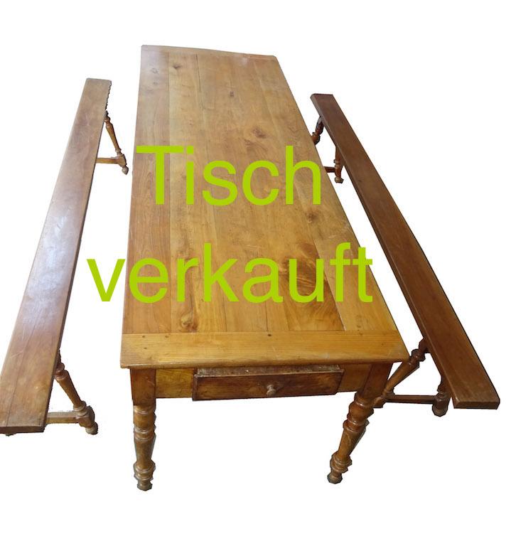 Verkauft Tisch 2 Bänke April15A