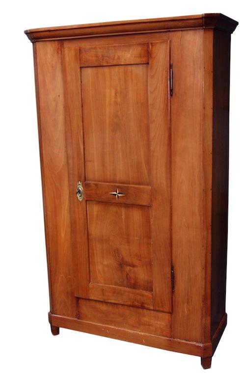 antiker eint riger biedermeier schrank kirschbaum massiv edeltr del antike m bel. Black Bedroom Furniture Sets. Home Design Ideas