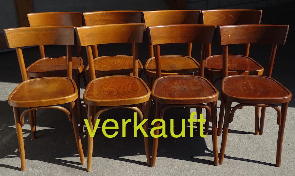 Verkauft 8 Stühle Thonet Juni15A