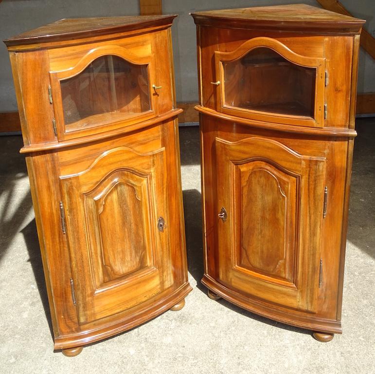 Selten Ein Paar Eckmöbel Frühes Biedermeier Edeltrödel Antike
